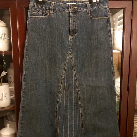 dd4863e7f Cato Skirts | Long Denim Skirt | Poshmark